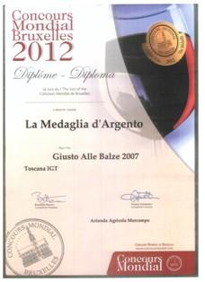 Bruxelles 2012 Silver Medal